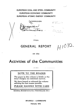 General Report on the Activities of the Communities PDF