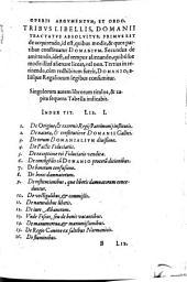 Renati Choppini De Domanio franciae: Lib. III.