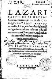 De re navali commentarius. cum Menapius, etc...