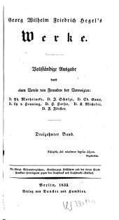 Georg Wilhelm Friedrich Hegel's Vorlesungen über die Geschichte der Philosophie