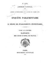 Enquēte parlementaire sur le régime des établissements pénitentiaires: Volume4