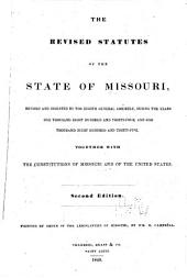 The Revised Statutes of the State of Missouri