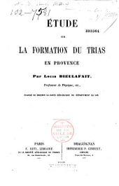 Etude sur la formation du trias en Provence