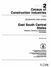 1992 Census of Construction Industries PDF