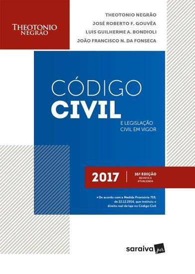 LIV DIG C  DIGO CIVIL E LEGISLA    O CIVIL EM VIGOR PDF