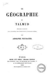 La géographie du Talmud par Adolphe Neubauer