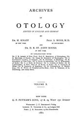 Archives of Otology: Volume 10