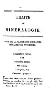 Traité de minéralogie: Volume4