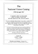 National Union Catalog PDF