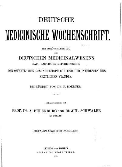 Deutsche medizinische Wochenschrift PDF
