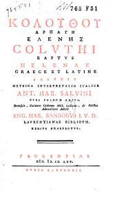 Coluthi raptus Helenae: Graece et Latine