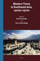 Modern Times in Southeast Asia  1920s 1970s PDF