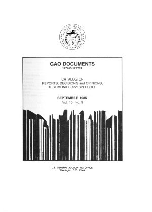 GAO Documents