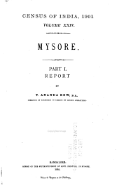Census of India, 1901: Volume 24, Part 1