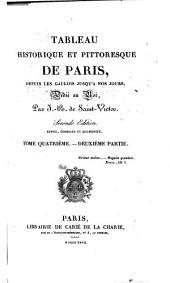 Tableau historique et pittoresque de Paris: depuis les Gaulois jusqu' à nos jours, Volume4,Numéro2