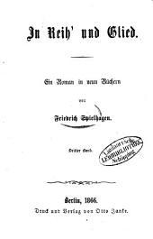 In Reih' und Glied: Ein Roman in neun Büchern von Friedrich Spielhagen, Band 3