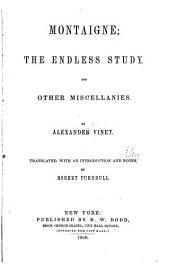 Montaigne: The Endless Study...