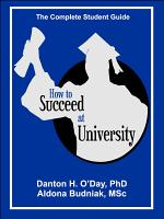 How to Succeed At University   International Edition PDF