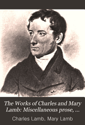 The Works of Charles and Mary Lamb: Miscellaneous prose, 1798-1834