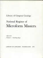 National Register of Microform Masters