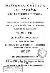 Historia critica de España y de la cultura española, 8: obra compuesta y publicada en italiano, Volumen 8