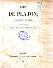 Oeuvres de Platon: dialogues métaphysiques
