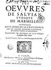 Les oeuvres de Salvian, évêque des Marseille, traduites par le P. Pierre Gorse,...