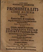Discursus iur. de prohibita litigiosi alienatione