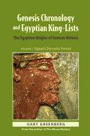 Genesis Chronology and Egyptian King-Lists