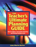 The Teacher s Ultimate Planning Guide PDF