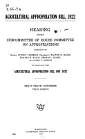 Department of Agriculture Appropriation Bill PDF