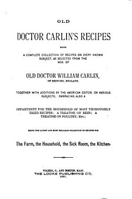 Old Doctor Carlin s Recipes PDF