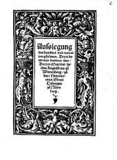 Ausslegung des hundert und neündten psalmen, Dixit dominus domino meo