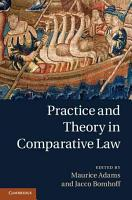 Practice and Theory in Comparative Law PDF