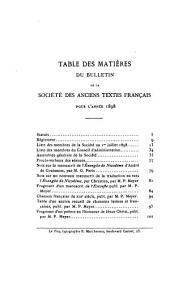 Bulletin de la Société des anciens textes français: Volumes21à24