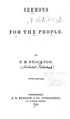 Sermons for the People PDF