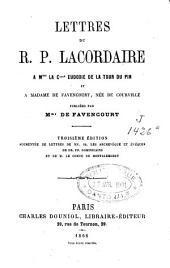 Lettres à Mme la comtesse Eudoxie de la Tour du Pin et à Mme de Favencourt née de Courville