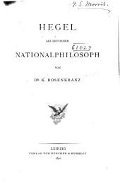 Hegel als deutscher nationalphilosoph: Band 3