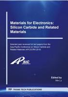 Materials for Electronics  Silicon Carbide and Related Materials PDF