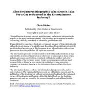 Ellen DeGeneres Biography: What Does it Take For a Gay to Succeed in the Entertainment Industry?: Celebrity Biography Series