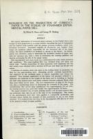 Research on the Production of Currency Paper in the Bureau of Standards Experimental Paper Mill PDF