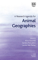 A Research Agenda For Animal Geographies