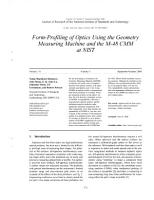 Form Profiling of Optics Using the Geometry Measuring Machine and the M 48 CMM at NIST PDF