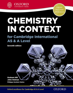 Chemistry in Context for Cambridge International AS   A Level
