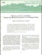 Derivation of the one- and ten-hour timelag fuel moisture calculations for fire-danger rating