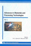 Advances in Materials and Processing Technologies PDF