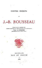 Contes inédits: publiés pour la première fois d'après un manuscrit du temps, provenant de la collection de Victor de Luzarche