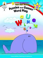 Puzzles and Games: Word Play, Grade 2