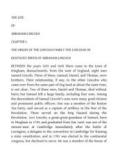 The Life of Abraham Lincoln: Volume 1