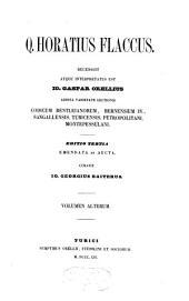 Opera recensuit atque interpretatus est Io. Caspar Orellius...